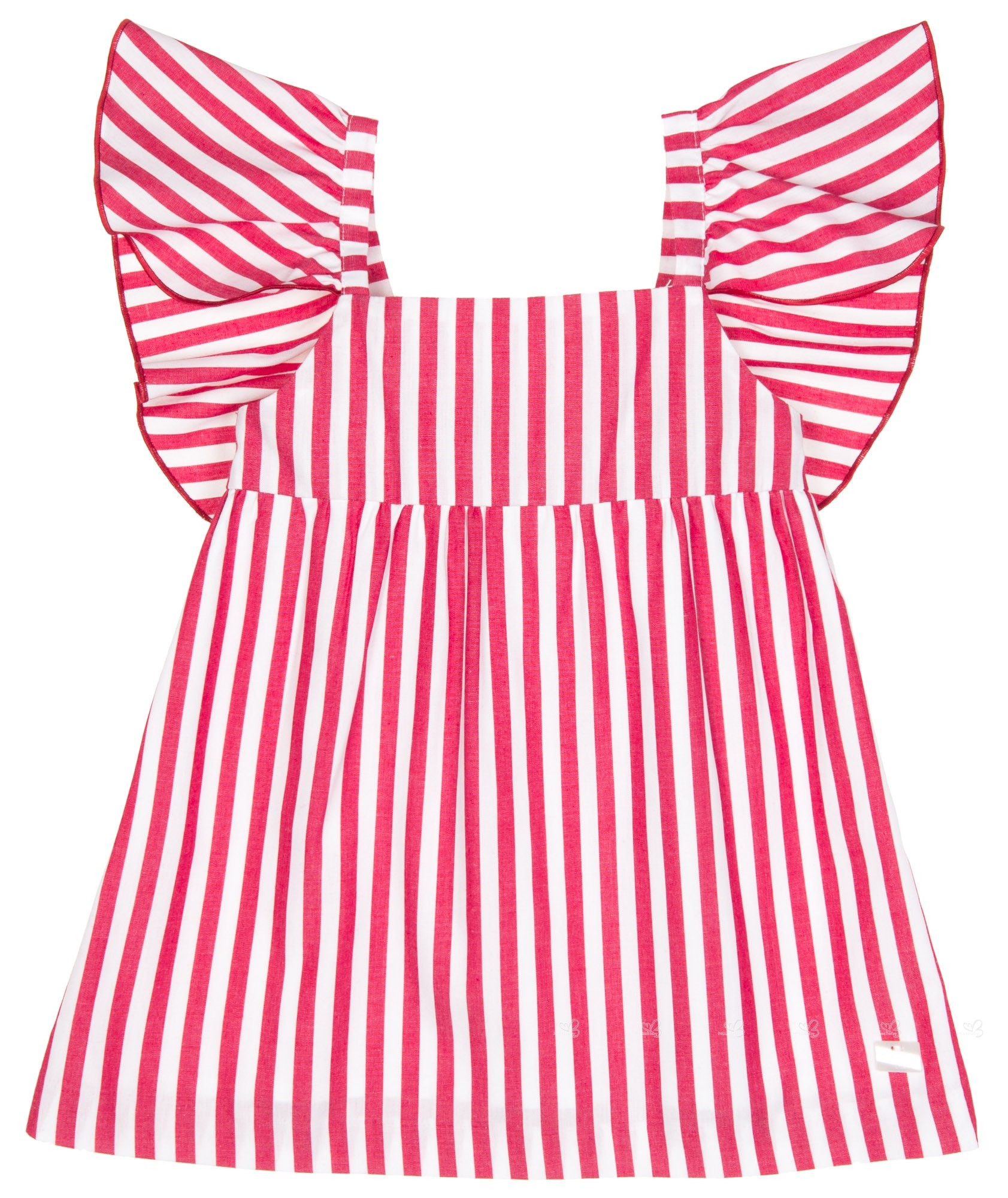 2364331e5 Eve Children Girls Red   White Striped Dress with Back Maxi Bow ...