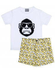 Boys Gorilla T-Shirt & Bananas Short Set