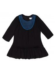 Girls Black & Blue Viscose Dress