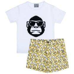 Boys Gorilla T-Shirt & Bananas Short Set