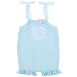 Baby Girls Aqua Green & Stars Print Playsuit
