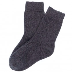 Baby Dark Grey Ribbed Socks