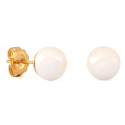 Gold Earrings with Pearl 8mm