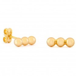 Girls Gold Three Small Balls Earrings