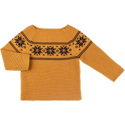 Mustard & Navy Blue Knitted Fairlsey Sweater