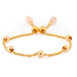 Girls Gold Plated Bracelet with Quartz Spheres