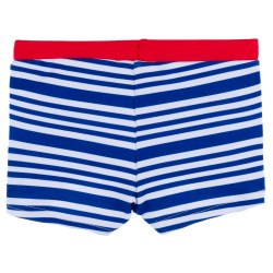 Baby Boys Dark Blue Striped Swim Shorts