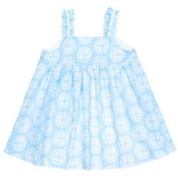 Baby Girls Light Blue Flower Print Sundress