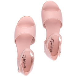 Girls Pale Pink Leather Amelia Sandals