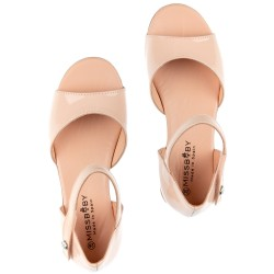 Girls Make-up Patent Leather Sandals