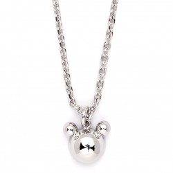 Silver Plated Necklace with Chain & Bear Pendant