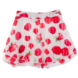 Girls Red Rose Print Shorts