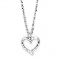 Necklace with Silver Plated Chain & Heart Pendant