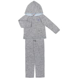 Grey Jersey Hooded Sweatshirt & Joggers Set