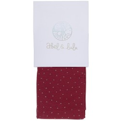 Girls Garnet Tights with Polka Dot