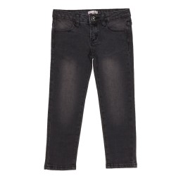 Girls Dark Grey Denim Slim Fit Jeans