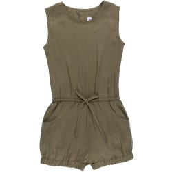 Girls Green Tencel Playsuit