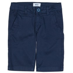 Boys Navy Blue Cotton Shorts