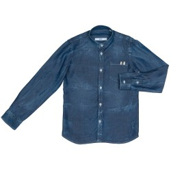 Boys Denim Distressed-Effect Shirt