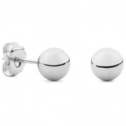 Silver Small Round Earrings 7mm