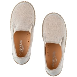 Boys Beige Cotton & Jute Espadrilles