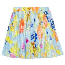 Girls Colourful Floral Pleated Skirt