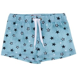 Boys Aqua Green Star Print Swim Shorts