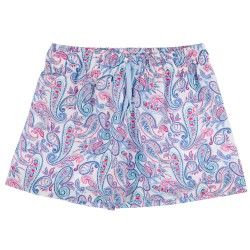 Boys Blue Paisley Print Swim Shorts