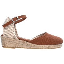 Girls Brown Espadrille Sandals