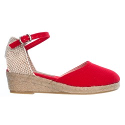 Girls Red Espadrille Sandals