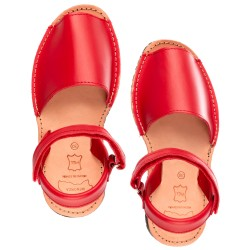 Red Leather Traditional Menorcan Sandals