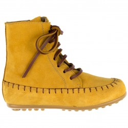 Girls Mustard Leather Boots