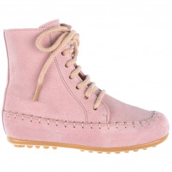 Girls Pale Pink Leather Boots