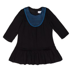 Girls Black & Blue Viscose Dress