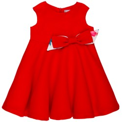 Girls Red Dress & Bow