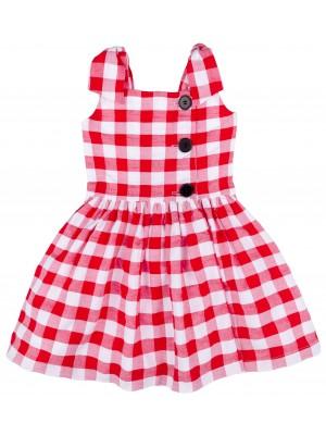 Mon Petit Bonbon Vestido Niña Vichy Rojo & Blanco