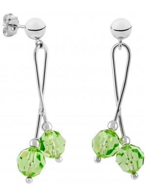 Missbaby Pendientes Vioretto Colgantes de Plata con Cristales Swarovski Verdes