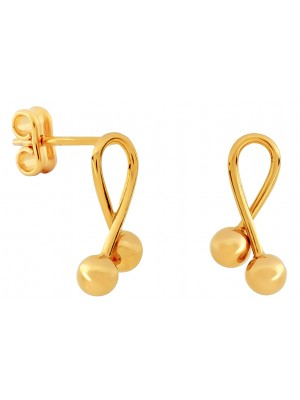 Missbaby Gold Laced with Two Balls Earrings