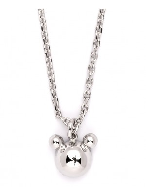 Missbaby Silver Plated Necklace with Chain & Bear Pendant
