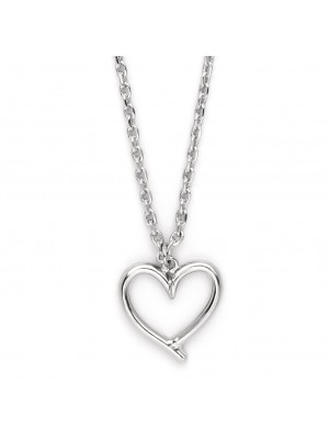Missbaby Necklace with Silver Plated Chain & Heart Pendant