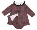 Red Tartan Dress & Knickers Set
