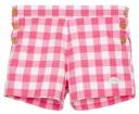 Boys Strawberry Red Gingham Shorts