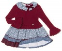 Burgundy Sweater Dress & Floral Skirt