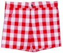 Boys White Duck T-Shirt & Red Gingham Shorts Set