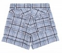 Pale Blue 5 pocket plaid jacquard shorts