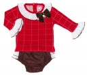 Baby Girls Red Sweater & Chocolate Knickers Set