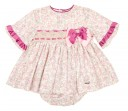 Baby Pink Ploral Print 3 Piece Dress Set