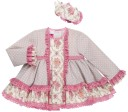 Nini Moda Infantil Conjunto Bebé Niña Vestido Topitos & Floraes Rosa