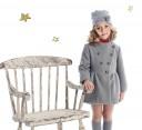 Girls Gray Mouflon Coat