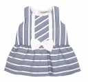 Blue & White striped dress with a bow